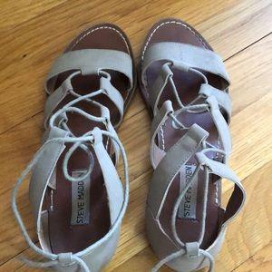 Steve Madden flat lace up sandals
